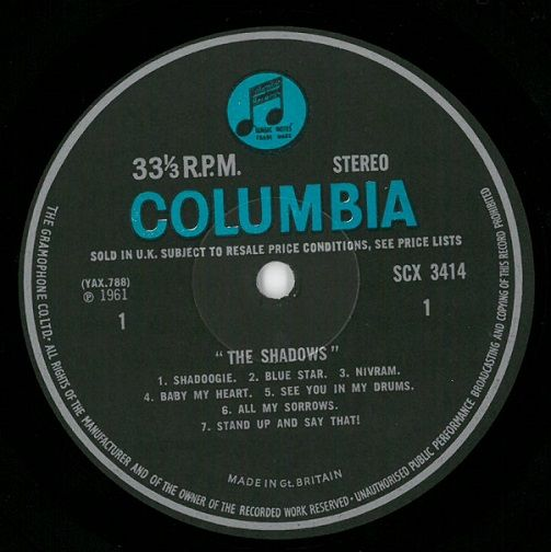The Shadows The Shadows Vinyl Lp Planet Earth Records